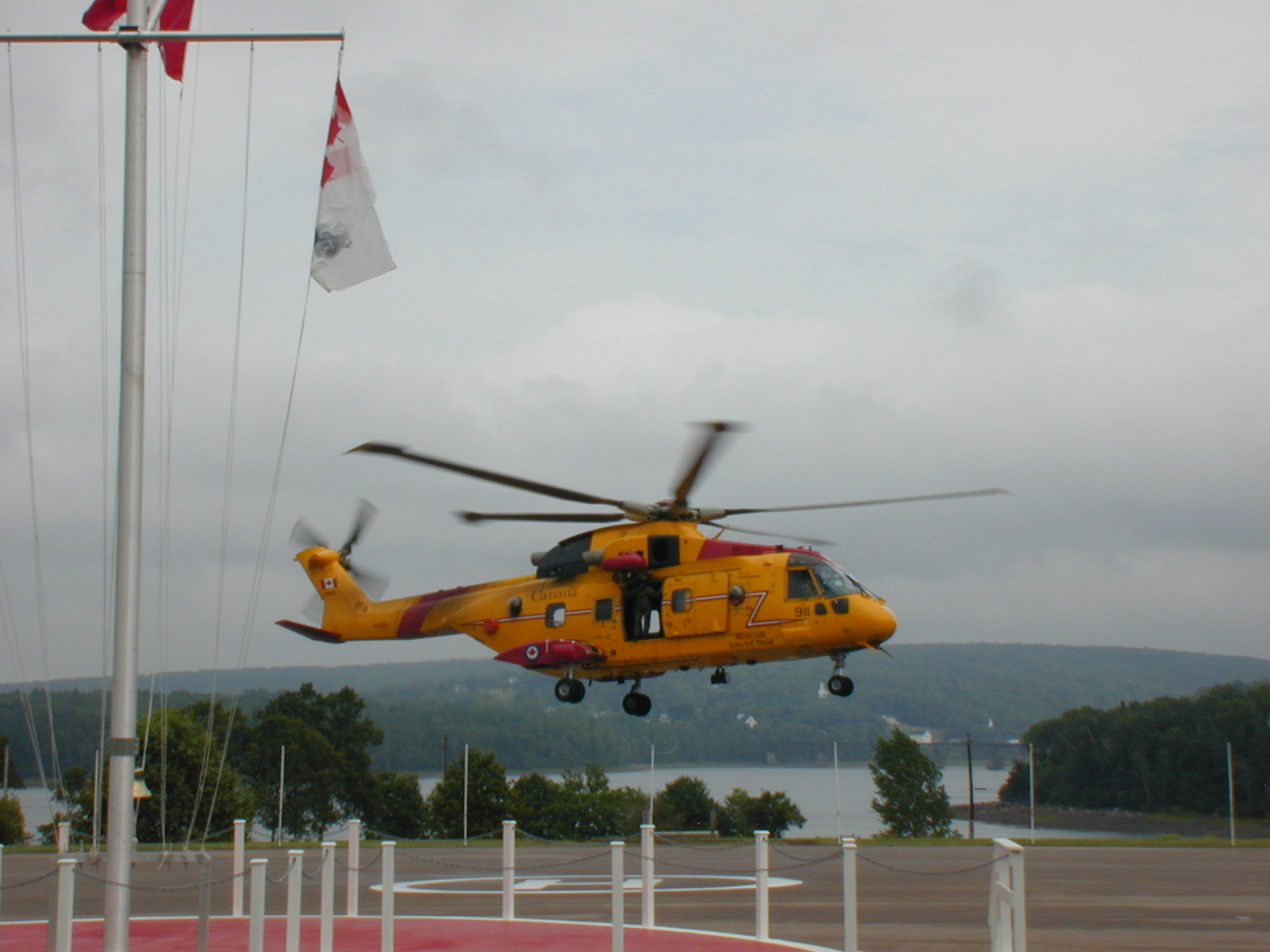 Helicopter using Helipad - Annapolis Basin Conference Centre